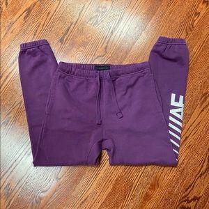 NWOT mens american eagle purple joggers/sweatpants